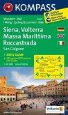 KOMPASS Wanderkarte Siena - Volterra - Massa Marittima - Rocca Strada - San Galgano