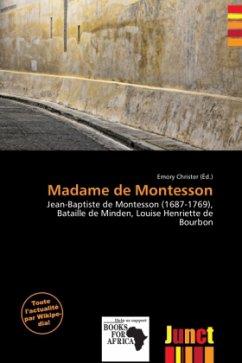 Madame de Montesson - Herausgegeben von Christer, Emory