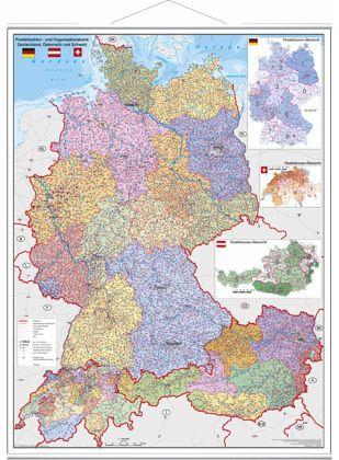 deutschlandkarte mit österreich Stiefel Wandkarte Großformat Deutschland, Österreich und Schweiz