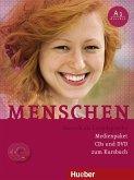 Medienpaket, 3 Audio-CDs + 1 DVD (zum Kursbuch) / Menschen - Deutsch als Fremdsprache Bd.A1