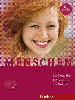 Medienpaket, 3 Audio-CDs + 1 DVD (zum Kursbuch) / Menschen - Deutsch als Fremdsprache Bd.A1 - Evans, Sandra; Pude, Angela; Specht, Franz