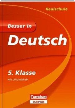 Besser in Deutsch - Realschule 5. Klasse - Cornelsen Scriptor - Gerstenmaier, Wiebke; Grimm, Sonja