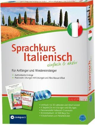 Sprachkurs Italienisch einfach & aktiv, Lehrbuch m. 4 Audio-CDs