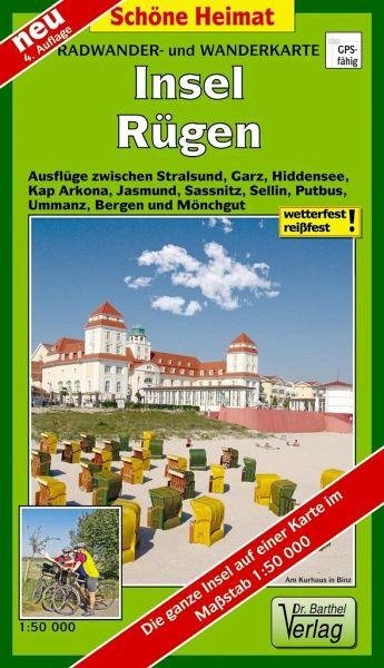 Karte Rügen.Doktor Barthel Karte Insel Rügen