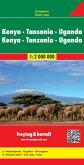 Freytag & Berndt Autokarte Kenya, Tansania, Uganda, Ruanda; Kenia, Tanzania, Uganda