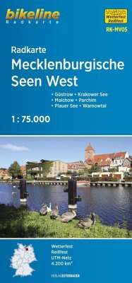 Bikeline Radkarte Mecklenburgische Seen West