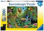 Ravensburger 12660 - Tiere im Dschungel, Puzzle, 200 Teile
