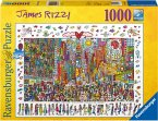 Ravensburger 19069 - James Rizzi: Times Square, Puzzle 1000 Teile