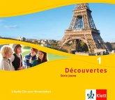 Découvertes. Série jaune (ab Klasse 6). Ausgabe ab 2012, 3 Audio-CDs zum Hörverstehen / Découvertes - Série jaune 1, Bd.1