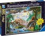 Ravensburger 14863 - Tiere am Wasserloch, Starline Puzzle, 500 Teile