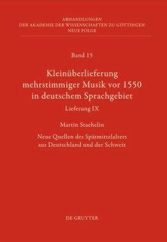 Kleinüberlieferung mehrstimmiger Musik vor 1550 in deutschem Sprachgebiet, Lieferung IX
