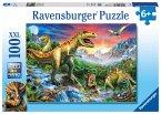 Ravensburger 10665 - Bei den Dinosauriern, XXL-Puzzle, 100 Teile