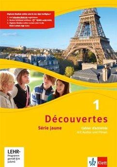 Découvertes Série jaune 1. Cahier d'activités mit MP3-CD und Video-DVD