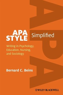 APA Style Simplified: Writing in Psychology, Ed...