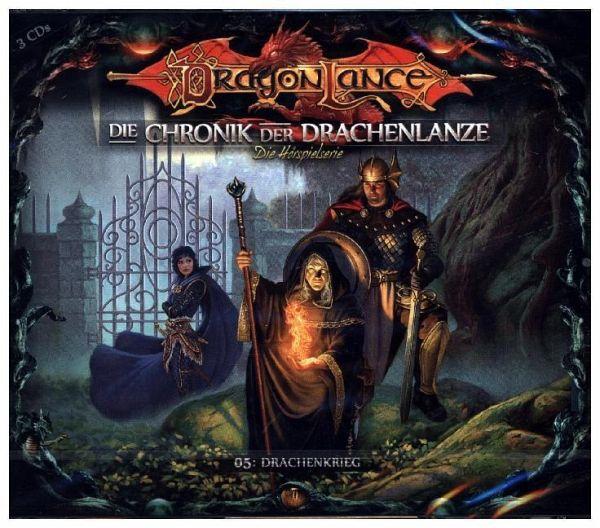 Die Chronik der Drachenlanze - Drachenkrieg, 3 Audio-CDs - Holy, David