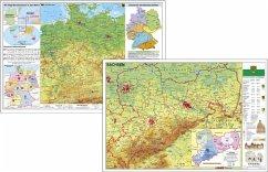 Deutschland physisch / Sachsen physisch. DUO-Sc...