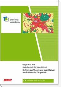 Beiträge zur Theorie und quantitativen Methodik in der Geographie