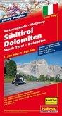 Südtirol-Dolomiten MotoMap Motorradkarte 1:250 000 / 1:650 000; South Tyrol, Dolomites