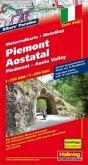 Piemont-Aostatal MotoMap Motorradkarte 1:250 000 / 1:650 000; Piedmont, Aosta Valley