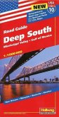Deep South, Mississippi Valley, Gulf of Mexico Straßenkarte 1:1 Mio., Road Guide Nr. 10