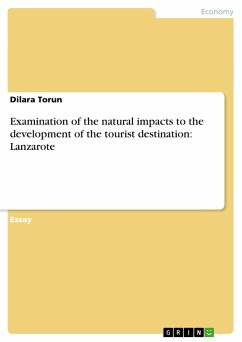 Examination of the natural impacts to the development of the tourist destination: Lanzarote