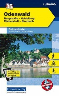 Kümmerly & Frey Outdoorkarte Odenwald
