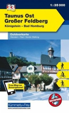 Kümmerly+Frey Outdoorkarte Taunus Ost, Großer Feldberg