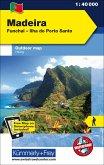 Kümmerly & Frey Outdoorkarte Madeira Funchal - Ilha do Porto Santo