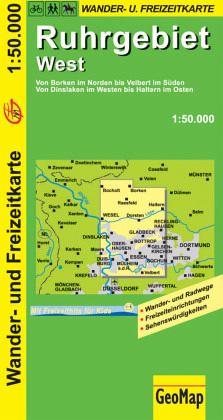 Karte Ruhrgebiet.Geomap Karte Ruhrgebiet West