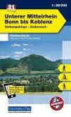 Kümmerly+Frey Outdoorkarte Unterer Mittelrhein, Bonn bis Koblenz