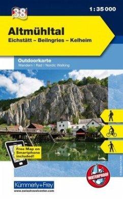 Kümmerly & Frey Outdoorkarte Altmühltal