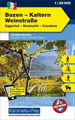 Kümmerly & Frey Outdoorkarte Bozen, Kaltern, We...