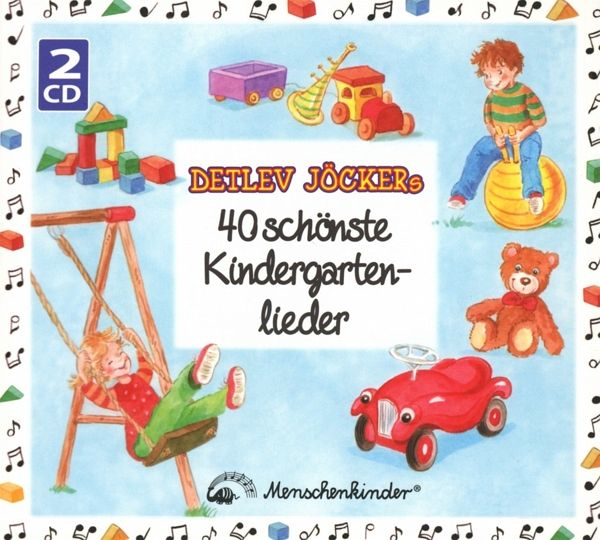 Detlev Jöckers 40 schönste Kindergartenlieder, 2 Audio-CDs - Jöcker, Detlev