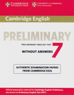 Cambridge Preliminary English Test 7 / Student's Book without answers