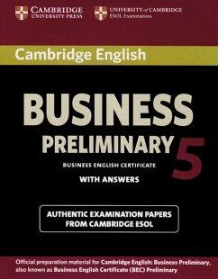 Cambridge BEC Preliminary 5. Student´s Book wit...