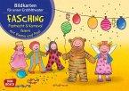 Fasching, Fastnacht & Karneval feiern mit Emma und Paul, Kamishibai Bildkartenset