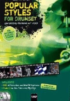 Popular Styles for Drumset, m. DVD + Audio-CD