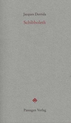 Schibboleth - Derrida, Jacques