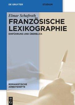 Französische Lexikographie - Schafroth, Elmar