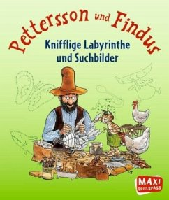 Pettersson und Findus - Knifflige Labyrinthe und Suchbilder - Becker, Christian