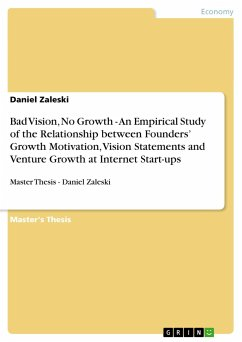 Bad Vision, No Growth - An Empirical Study of the Relationship between Founders' Growth Motivation, Vision Statements and Venture Growth at Internet Start-ups