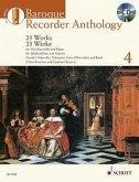 Baroque Recorder Anthology, für Alt-Blockflöte und Klavier, m. Audio-CD