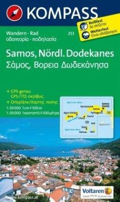 KOMPASS Wanderkarte Samos - Nördlicher Dodekanes