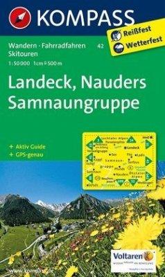 KOMPASS Wanderkarte Landeck - Nauders - Samnaungruppe