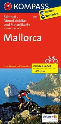 Kompass Fahrradkarte Mallorca, 2 Bl. / Kompass ...