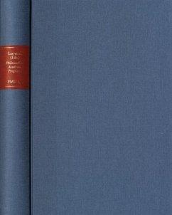 Quellen zur Universitätsgeschichte - Philosophical Academic Programs of the German Enlightenment / Forschungen und Materialien zur Universitätsgeschichte Abt.I: Quellen zur Universitätsge, Bd.4