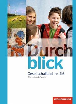 Durchblick Gesellschaftslehre 5 / 6. Schülerband. Niedersachsen
