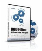 1000 Folien, 3D PowerPoint Vorlagen, Farbe: exact.blue (2017), 1 CD-ROM