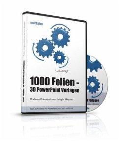 1000 Folien, 3D PowerPoint Vorlagen, Farbe: exa...