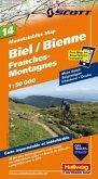 Biel-Bienne, Franches Montagnes Mountainbike-Karte Nr. 14, 1:50 000